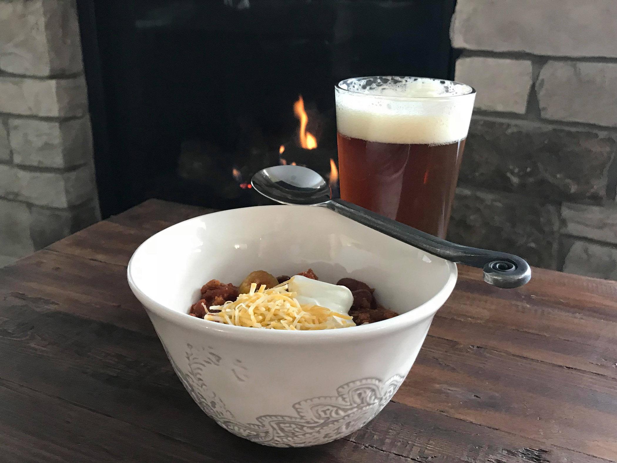 chili, beer