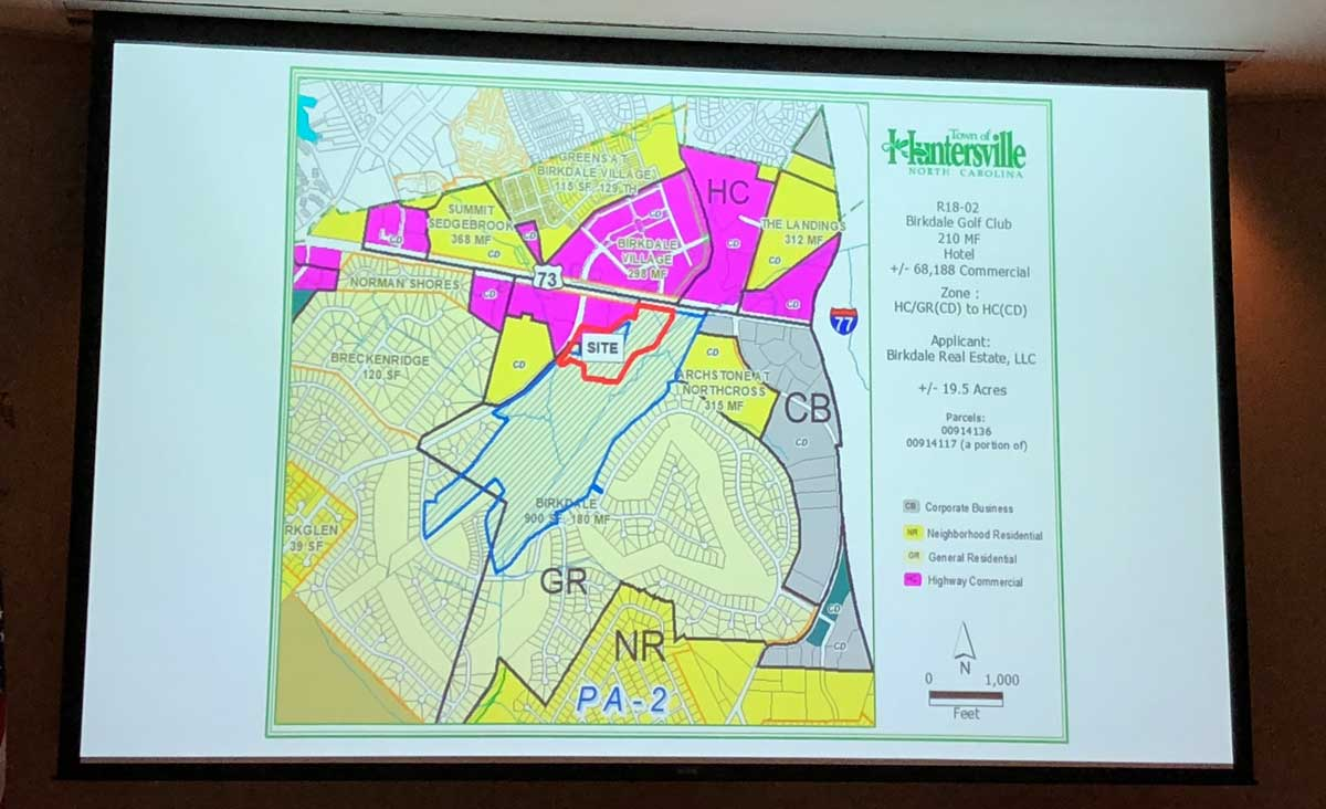Plans showing the location of the Birkdale Golf Club site
