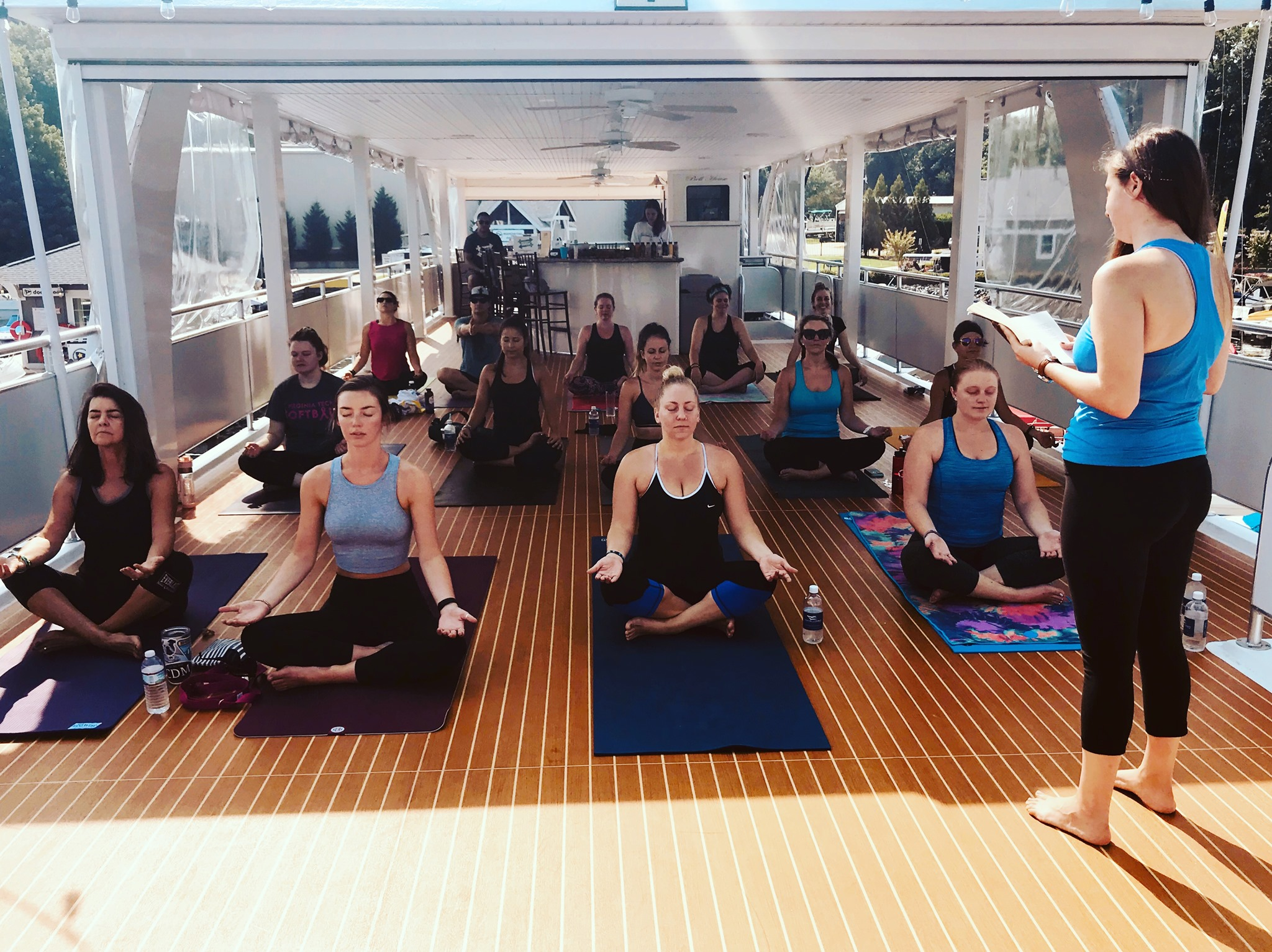 Image Courtesy Yacht Yoga for a Cause