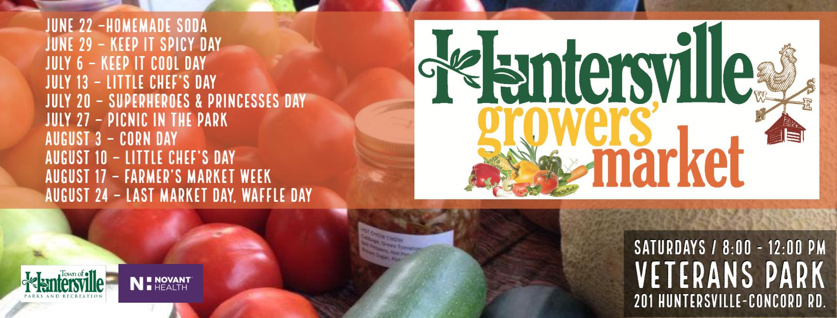 Image Courtesy of Huntersville, Growers' Market