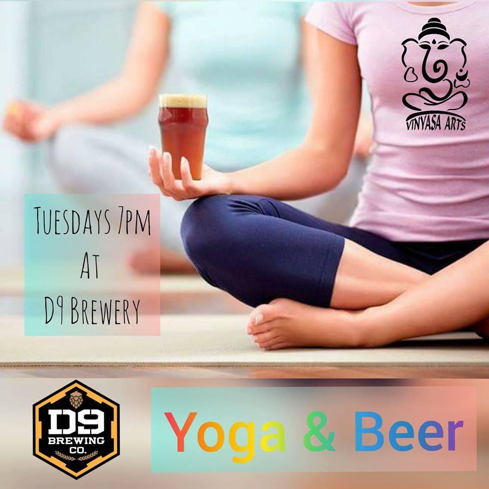 Image Courtesy: D9 Brewing Company/Vinyasa Yoga Sutudio