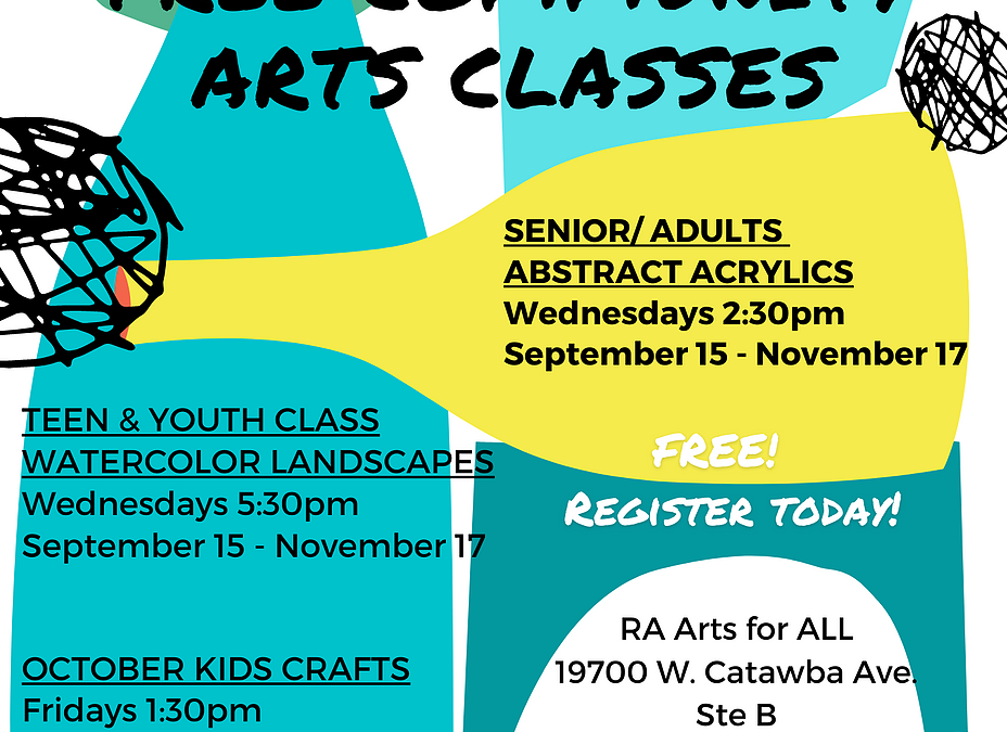 Things to Do:  – Free Community Arts Class – Arts for All Studios – Cornelius